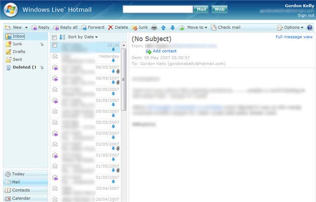f2d63a0dc Hotmail na primeira  wave .